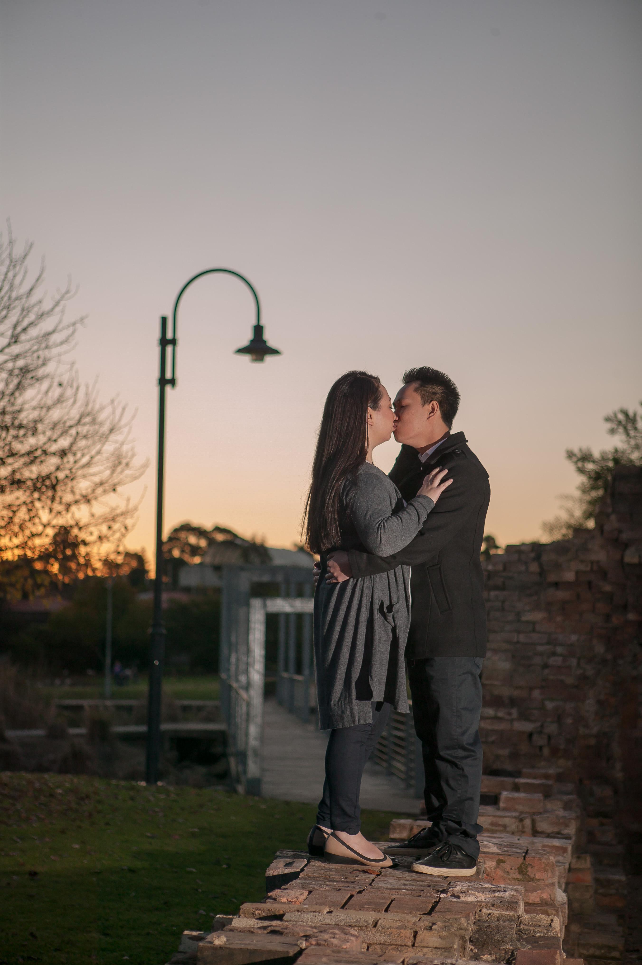 Sydney couple engagement session sunset