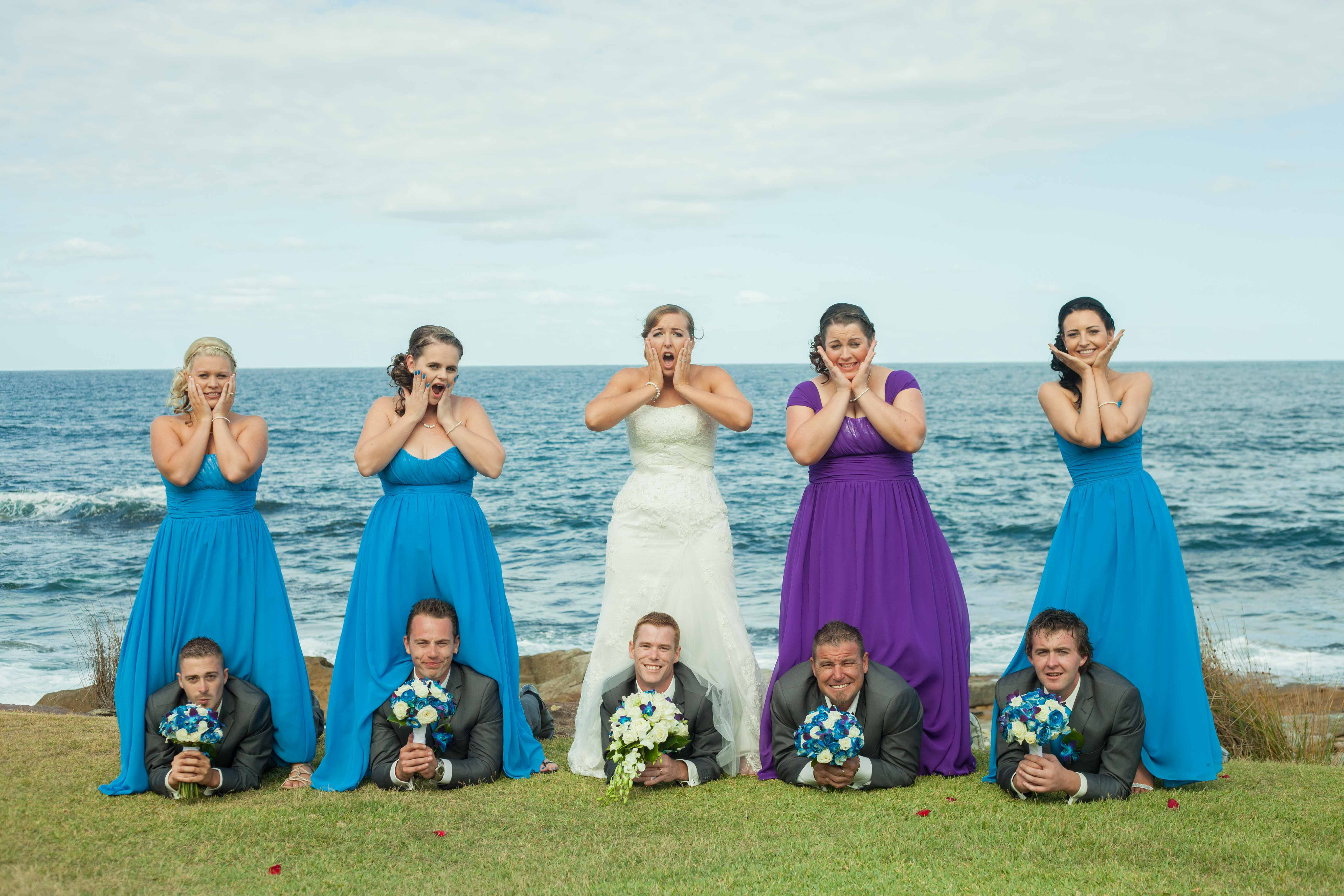 Sydney wedding bridal party with bride and groom
