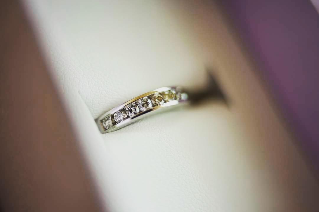 Sydney wedding ring of bride closeup